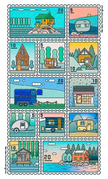 個人創作 郵票設計