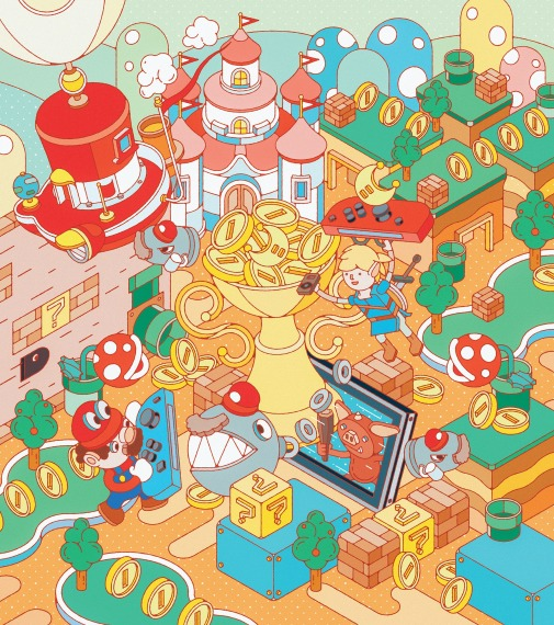 Fast Company Magazine Nintendo 專題插畫